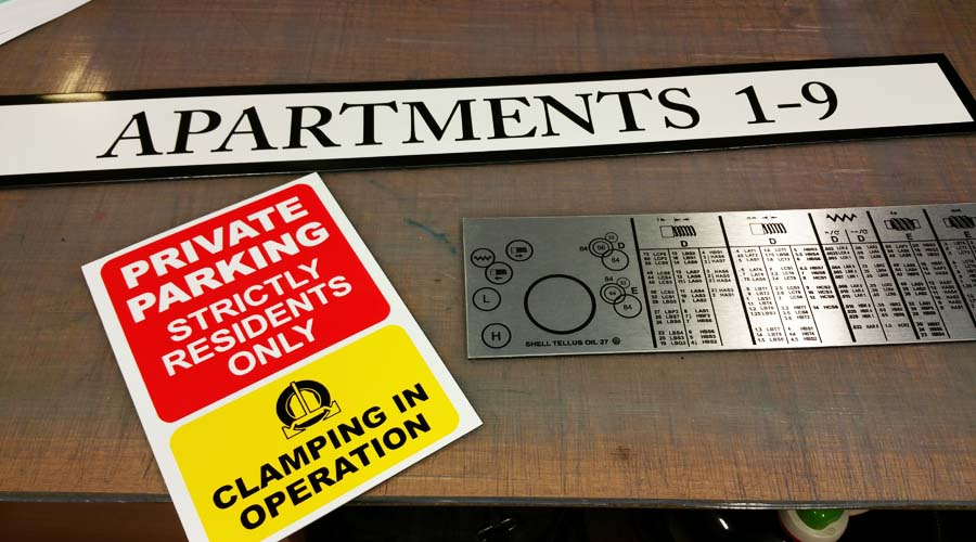 Brushed Aluminium Signs